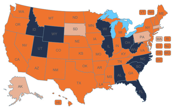 Parity Laws For Private Insurance Map