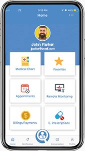 Patient convenience with telemedicine mobile application